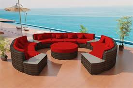 Soleil Patio Furniture Ilios Round Outdoor Wicker Sectional Sofa By Las Vegas Patio Furniture