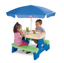 Kids Patio Table by Amazon Com Little Tikes Easy Store Junior Picnic Table With