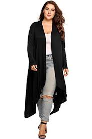 womens black cardigan sweater vansop oversized sleeve waterfall maxi knit duster