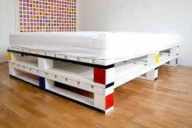 Pallet Bed Furniture Ideas Cama Moderna Fabricada Con Palets Y Acabado Blanco Muebles En