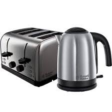 Silver Toaster And Kettle Set Russell Hobbs Kettle Toaster Ebay