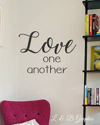 vinyl wall decal love one another wall quotes home decor