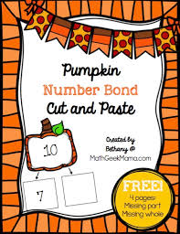 pumpkin number bonds to ten cut and paste free