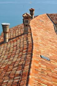 Mediterranean Roof Tile Roof Tiles And Mediterranean Sea Stock Images Image 14019454
