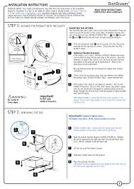 step 1 step 2 installation instructions fisher u0026 paykel v3