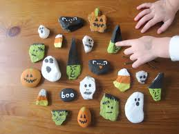 the hawkins family rock painting cookie frosting and pumpkin