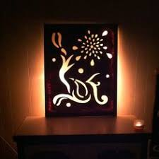 pictures with lights behind them made a night light canvas today crafts and diy pinterest
