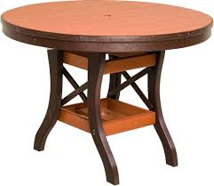 Amish Dining Tables Bylers Patio Round Table Amish 72 Inch Round Dining Table Large
