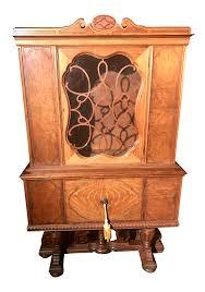 jacobean style rockford illinois furniture china cabinet chairish