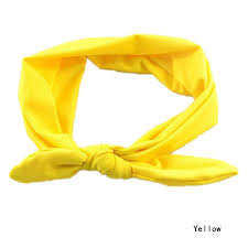 yellow headband fashion rabbit ears bow hair bands baby cloth headband