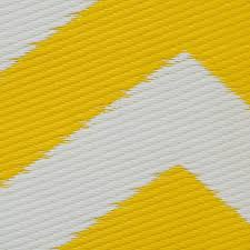 Yellow And White Outdoor Rug Zig Zag Outdoor Rug In Yellow White Cool Plastic Patterned Mat