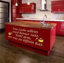 ebay küche wandtattoo s20 küche mit liebe spruch aufkleber küche deko