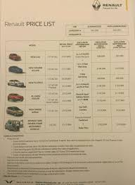 car renault price singapore motorshow 2016 renault price list deals promotions