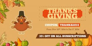 thanksgiving day sale for all subscription packages