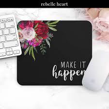 Inspirational Desk Accessories by Make It Happen Mouse Pad Motivational Mousepad Mouse Mat