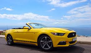 ford mustang for rent ford mustang yellow automatic tenerife sports cars rent
