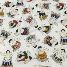 furoshiki free shipping japanese cotton fabric sumo wrestler