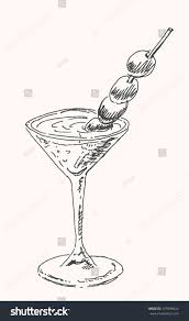 martini cocktail alcohol martini cocktail drink glass olives stock vector 319496924