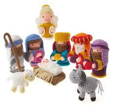 crochet christmas nativity set free pattern navidad