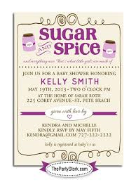 sugar and spice baby shower sugar and spice baby shower invitation