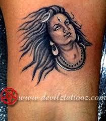tattoo art work by tattoo artist shiva face tattoo