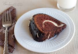 chocolate bundt cake with a cream cheese swirl recipe from barbara