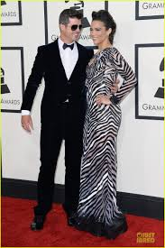 Grammy Red Carpet 2014 Best by Robin Thicke U0026 Paula Patton Grammys 2014 Red Carpet Photo