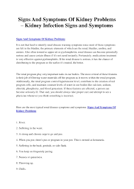 signs and symptoms of kidney problems u2013 kidney infection signs and sy u2026