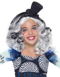 monster high frankie stein child halloween costume frankie stein girls costume wig costume craze