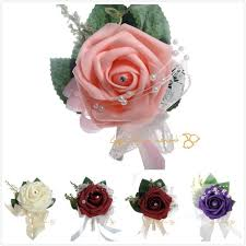 bridesmaid corsage groomsmen groom boutonniere corsage simulation activities guests