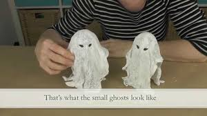 diy little spuky halloween ghosts with gauze and plaster of paris