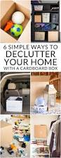 6 simple ways to declutter your home with a cardboard box bren did
