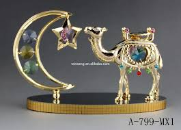 Dubai Home Decor by 24k Gold Plated Mid East Camel And Dubai Tower For Home Decor