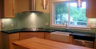 Green Glass Backsplashes For Kitchens Smoke Glass Subway Tile Subway Tiles Kitchen And