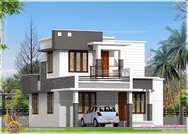 budget home plans small flat roof double stories house indian house plans