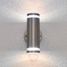 outdoor light sensor fixtures tiberus stainless steel led outdoor wall light lights co uk