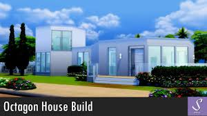 sims 4 modern octagon house build youtube