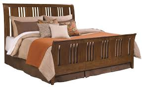 King Size Sleigh Bed Frame Feel Ultimate Comfort With Cherry Wood Sleigh Bed Series Homesfeed