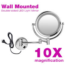Double Sided Bathroom Mirror by 8 5 Inch Double Side Makeup 10x Magnifying Bathroom Mirror With