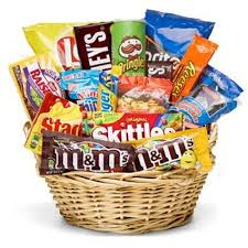 snack basket junk food and snacks gift basket same day delivery student gift