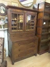 Cherry Secretary Desk by Antique Captain U0027s Secretary Desk Hand Built 1850 U0027s Burled