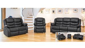 Black Leather Sofa Recliner Leather Sofa Recliner 1 Armchair 2 Seater Sofa 3 Seater Sofa