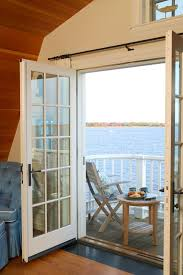 curtains for french doors trend boston traditional deck image