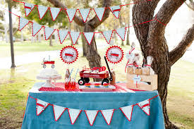 little red wagon birthday party package vintage toys theme