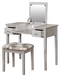 Mirrored Vanity With Drawers Table Prepossessing Mirrored Dressing Table Or Vanity With Nine