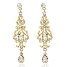new fashion gold earrings gold earrings q q fashion deco 20s 30s flapper gatsby austria