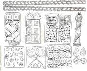 gingerbread house 4 coloring pages printable