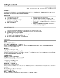 Tool And Die Maker Resume Die Resume