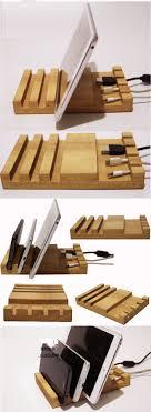 phone charger organizer bamboo wooden ipad smart phone cell phone charger charging station