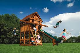 Small Backyard Swing Sets by Small Yard Play Structures Swing Set Rainbow Systems